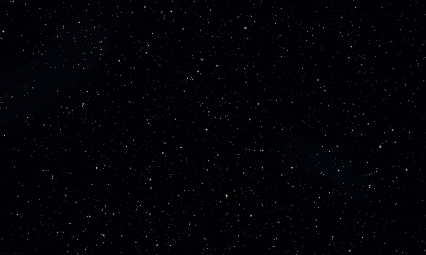Ein leicht beleuchteter Sternenhimmel